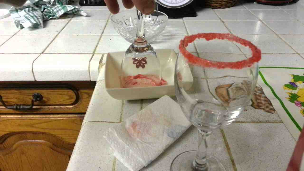 Comment mettre du sel dans un verre?